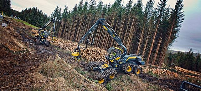 Harvester von Ponsse - Wahlers Forsttechnik