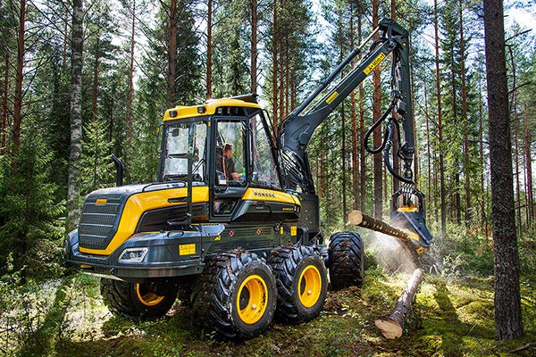 Wahlers Forsttechnik: Harvester PONSSE Ergo 8w