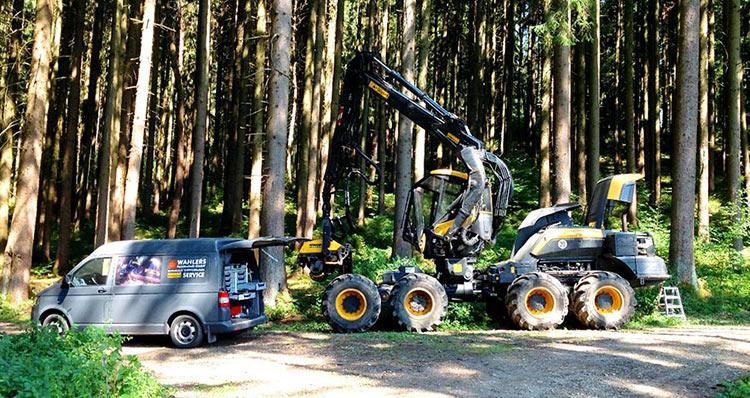 Wahlers Forsttechnik: vor-Ort-Service